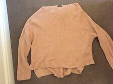 Zara chunky oversize blush pink cotton knit