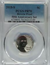PCGS PR70 2018-S Reverse Proof JEFFERSON Nickel 50th Anniversary Set US Mint PF
