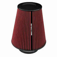 """SPECTRE HPR9611 Performance Cold Air Intake Red Filter 3.5"""" Clamp On"""