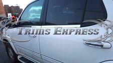 2001-2007 Toyota Sequoia 4pc Chrome Window Sill Trim Overlay Stainless Steel