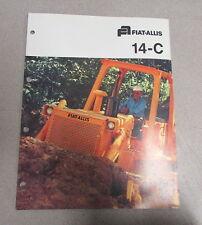 Fiat Allis 14-C Crawler Tractors Color Brochure Manual