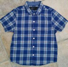 Boys NEXT Blue CHECK Tartan Shirt 2-3 Years