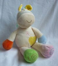 Mothercare Chiming Pony Baby Soft Toy Colourful Huggable Horse Taggies Comforter