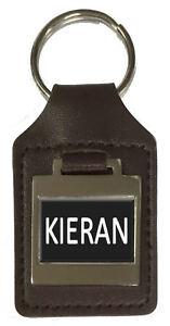 Leather Keyring Birthday Name Optional Engraving - Kieran