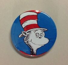 """Dr Seuss Cat in the Hat 2.25"""" Button Badge Pin Birthday Party Favor Gift"""