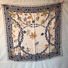 CARTIER must de Tuch carre foulard scarf shawl Seide silk soie pearls wie neu