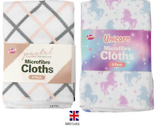 4pk Microfibre Cleaning Cloths Kitchen Towel Clean Tea Towels Home  GM3062OB UK