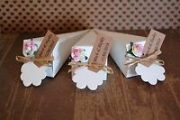Personalised filled wedding confetti cones real biodegradable petals tied raffia