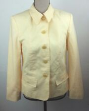 Click Women's Size 6 Blazer Suit Jacket Yellow Polyester Rayon Career Work Wear