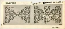 Vintage Leather Tool Stencil Wallet Billfold Border Pattern Craftaid No. 6534
