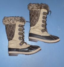 Alpine Design Women's Ellingwood Point Winter Boots Duck Toe Brown Size 9M