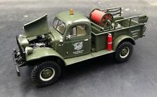 FIRST GEAR Dodge Power Wagon Pickup Brush Fire Truck Green 1:30 w/box Camp Ross
