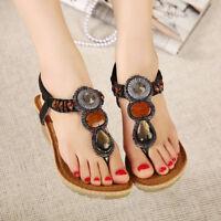 SOCOFY Women Wedge Sandals Flatform Shoes Bohemia Summer Casual Flip Flops UK