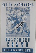 GINO MARCHETTI #89 SIGNED Old School Baltimore Colts Print Hall of Fame 1972
