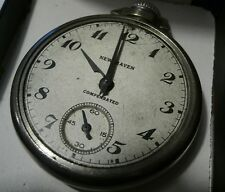 New Haven Compensated Pocket Watch Runs, Not Tested, Missing Crystal Steampunk !