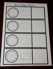 È il momento di... A4 laminato Poster Display + Panno A Secco Penna Autismo comunicazione