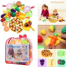 31Pcs Fruit Vegetable Food Cutting Set Kids Role Play Pretend Chef Kitchen Toy