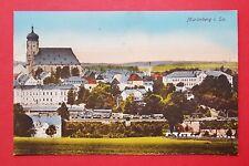 AK MARIENBERG im Erzgebirge um 1920 Stadtansicht mit Eisenbahn Hängern  ( 29718