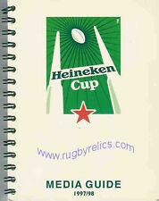 EUROPEAN 'HEINEKEN' CUP RUGBY MEDIA GUIDE 1997/8