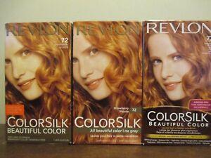 3x Revlon Colorsilk Beautiful Color Hair Dye 72 Strawberry Blonde - Hard To Find