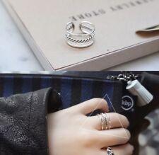 Ring, 925 Silber, verstellbar, offen, geschwärzt, Seil, Rope, dreifach, NEU