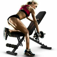Adjustable Folding Sit Up Bench Home Exercise Fitness Workout Abdominal Exercise