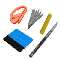 Vinyl Felt Squeegee Wrapping Tools 10 Blades Car Window Tinting 4 in1