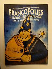 FRANCOFOLIES avec COCA COLA 1996   carte postale
