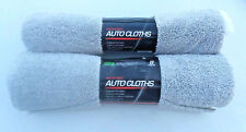 16 Total 2x 8ct Auto/Garage/Home Microfiber Detail Cleaning Cloths Gray & White