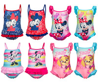 Baby Girls Official Minnie Mouse Paw Patrol Swimming Costume Swimsuit Swimwear