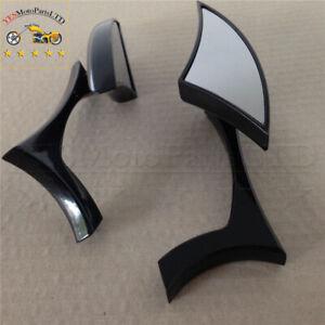 Spear Blade Mini Mirrors Black For Suzuki Gsxr 600 750 1000 1300 Hayabusa Gsx-R