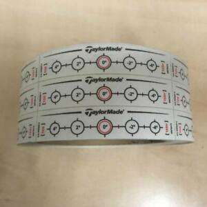 TaylorMade Golf Lie Impact Decals / Stickers - 1 x Roll (500 Decals)