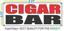 CIGAR BAR Banner Sign NEW Larger Size 2X5 Red & Black