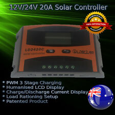 20 AMP 12V/24V LCD DISPLAY SOLAR CHARGE CONTROLLER REGULATOR PWM 20A/20AMP