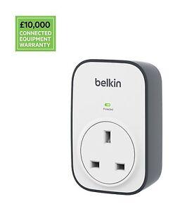Belkin Surge master Cube 1 Way Surge Protector BSV102af UK For Laptop PC Mobile