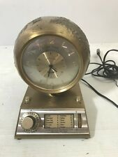 ZONEMASTER Globe Desk Clock Brass Multiple Time Zone Mid Century Modern Vintage
