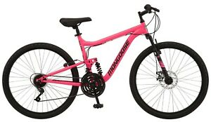 "Women's 26"" Major Mountain Pro Bike Off Road Trail Tires 18-Speed Bicycle, Pink"