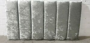 """3ft STRIPED HEADBOARD FOR SINGLE BED HEAD IN CRUSHED VELVET - 20"""" FREE DELIVERY"""
