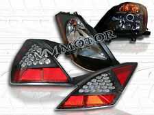 Black Projector Headlights & LED Tail Lights Black FIT 03-05 NISSAN 350Z JDM Z33