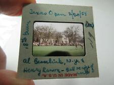 1954 photo slide golf Texas Open Al Besselink & Henry Ransom golfers 18th green