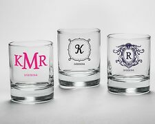 96 Personalized Shot Glass Glasses Votive Holders Wedding Favors Q35963
