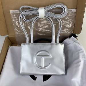 Telfar Small Silver Shopping 🛍 Bag 💼 Authentic - New! 🔥