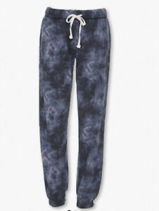 Womens Vanilla Star Tie Dye Cloud Wash Sweatpants Small Medium Charcoal Multi