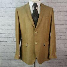 Wills Lifestyle Slim Fit Men's Large Linen Sport Coat Brown 2 Button Front