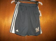 Milwaukee Brewers Shorts Boys pockets  Adidas  NWT sz S M or L