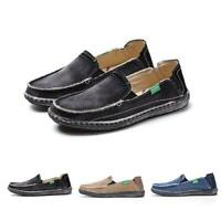 Mens Outdoor Lightweight Leisure Flat Sneakers Slip On Canvas Shoes Espadrilles