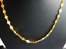 Relleno de oro Plateado Cadena Collar Joyería Madina/Crescent en moneda u98