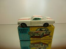 CORGI TOYS 325 FORD MUSTANG FASTBACK 2+2 - WHITE 1:43 - VERY GOOD IN BOX