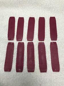 """Lot 10 Vintage Mattel Hot Wheels Track Purple Connectors 6200-0630 4"""" Length"""