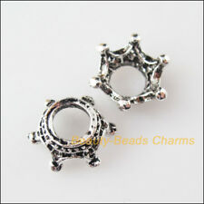 5 New Crown Charms Tibetan Silver Tone Beads end Caps 13.5mm